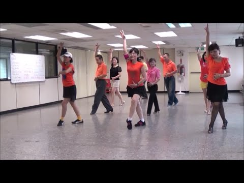 A Chinese Rumba (by Kenny Teh) - line dance = 我悄悄地矇上你的眼睛 - 排舞