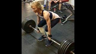 Тренировка, становая тяга.