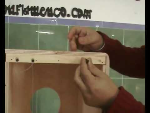 Instrucciones para la realización de un cajón flamenco.