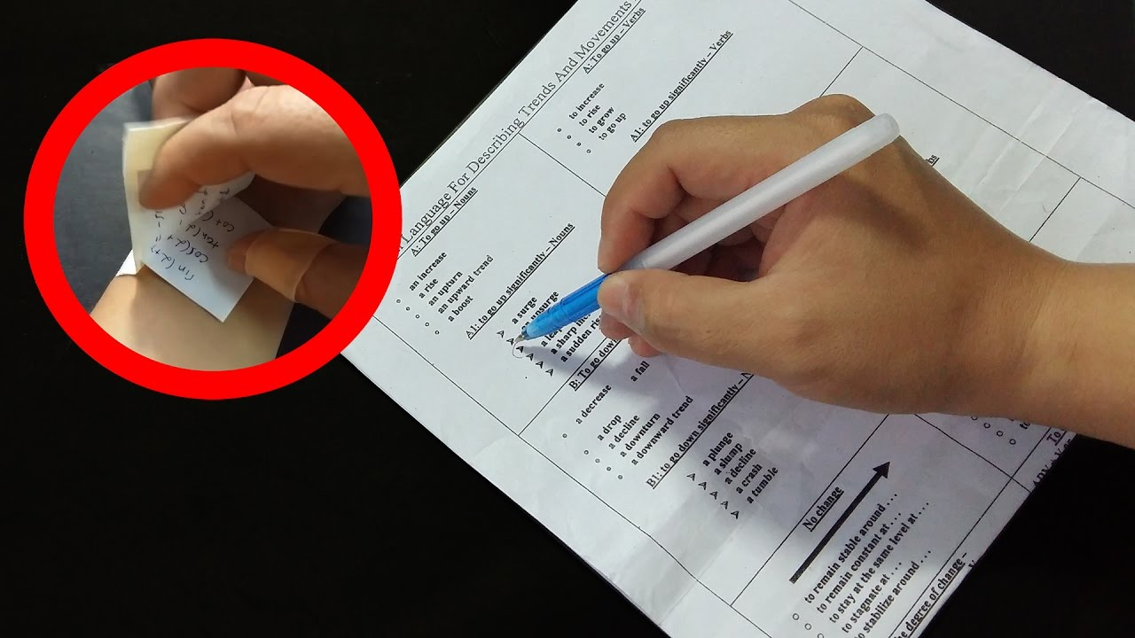 how to cheat on a test without getting caught