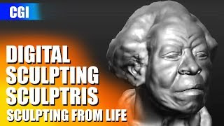 """Sculptris portrait scuplture from """"live model"""" - Ruth Smith (HQ)"""