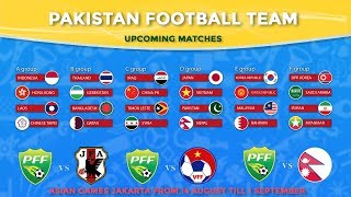 Pakistan football team is going to participate in Asian Games Jakarta