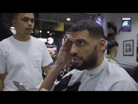 Lance Stephenson & Salah Mejri getting a fresh cut in Macao   THE TERRIFIC 12