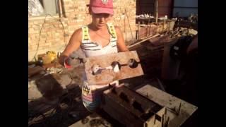 как изготовить шлакоблок своими руками видео