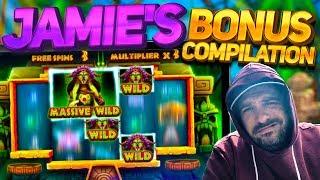 Slots Bonus Compilation w/Jamie - Shaman Spins, Vikings Unleashed Buys and more...