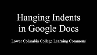 Hanging Indents in G๐ogle Docs