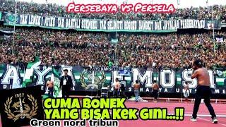 Hanya disini Tradisi Chant Antar Tribun Bonek Green Nord Kidul Timur VIP Persebaya vs Persela