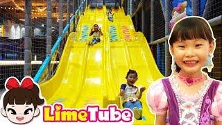 라임의 신나는 바운스 트램폴린 파크 모험 놀이터 키즈카페 체험하다!