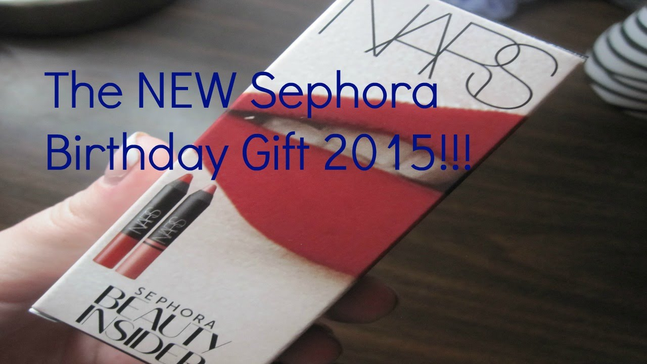 The NEW Sephora Birthday Gift 2015! - YouTube