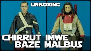 Star wars Unboxing Chirrut îmwe y Baze Malbus