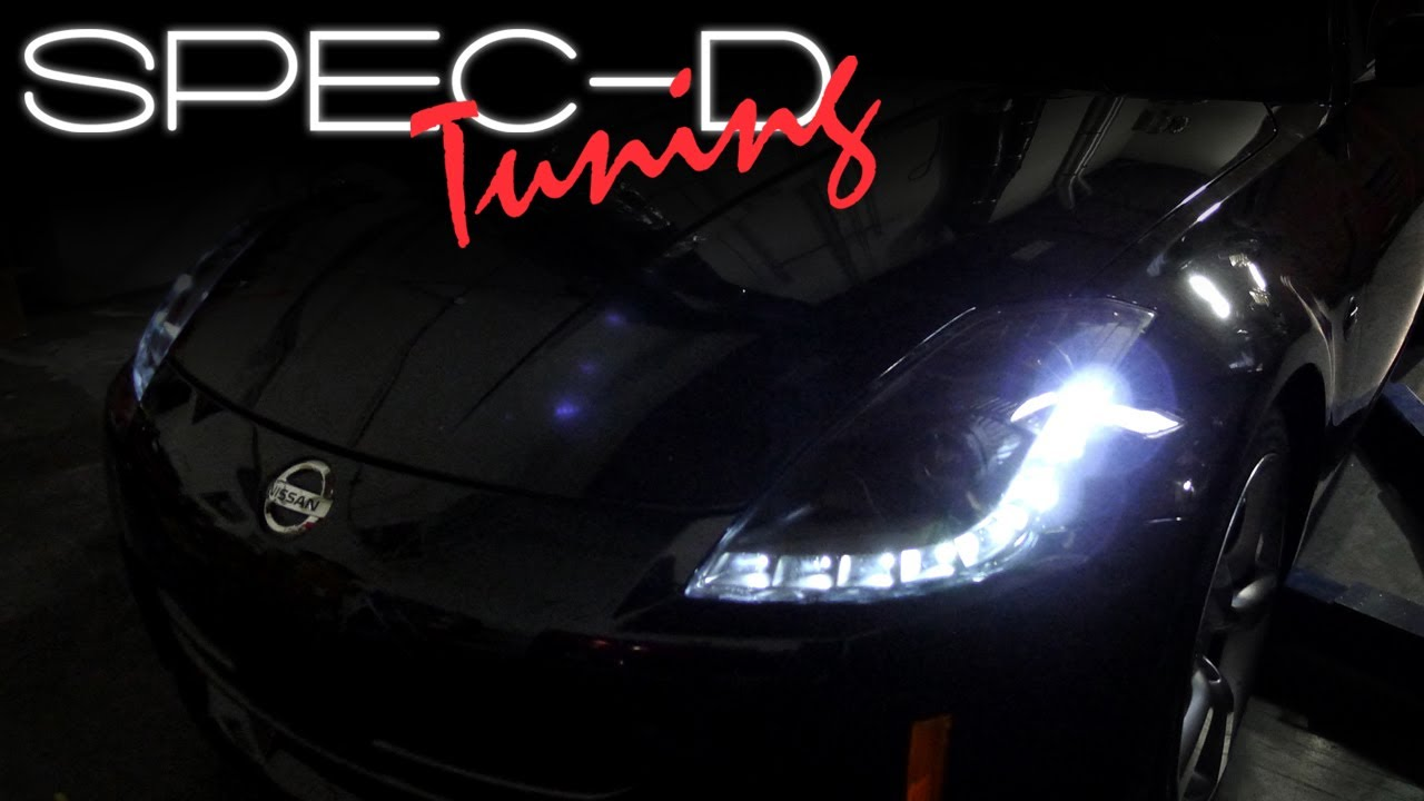 Specdtuning Installation Video 2006 2009 Nissan 350z Led Hid Projector Headlights You
