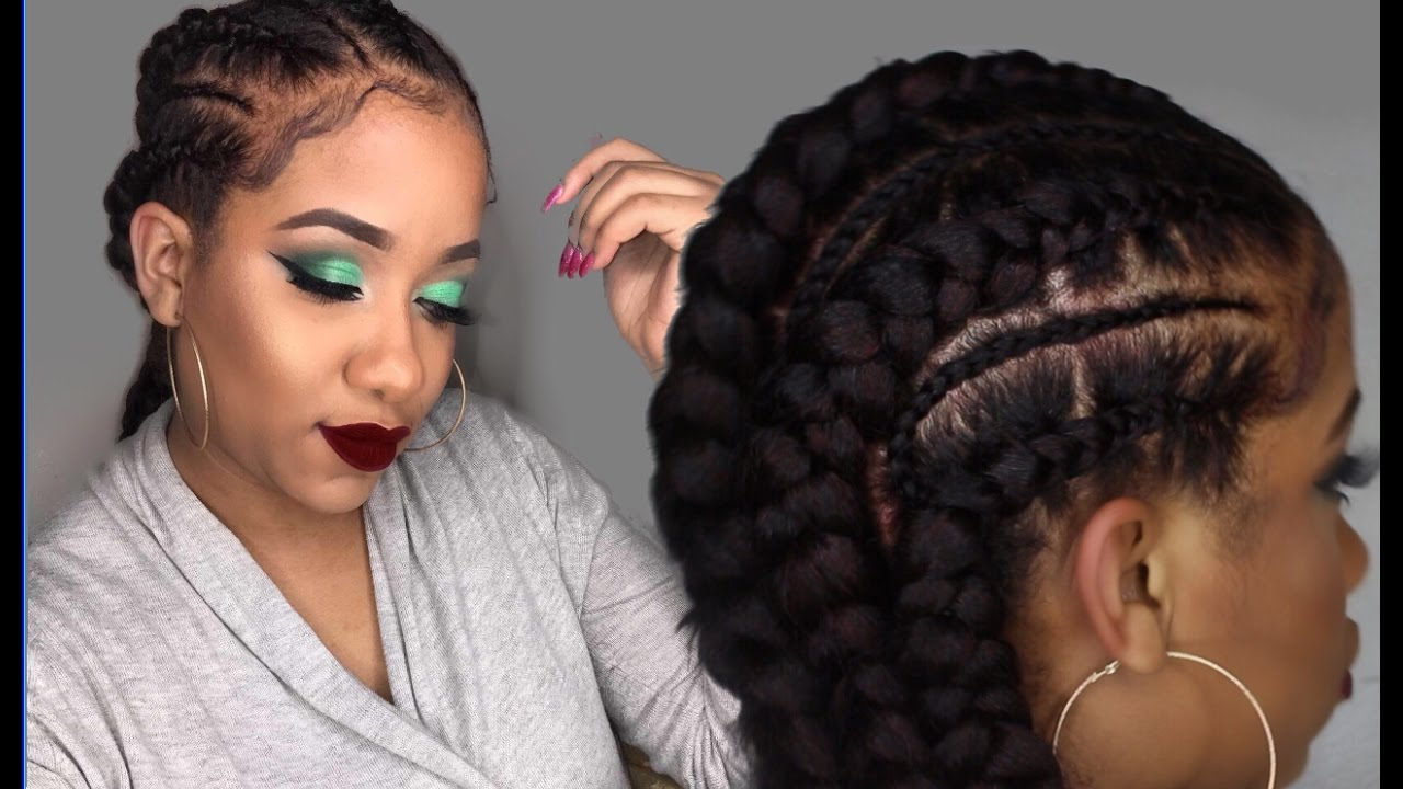 Feed In Braids Rubberband Method Beginner Friendly Youtube