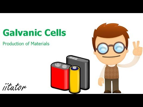 √ Galvanic Cells | Production of Materials | iitutor