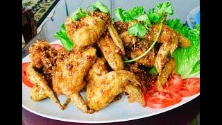 Cánh gà chiên nước mắm (Fried chicken wings with fish sauce) - - Bếp Nhà Nội