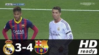 Real Madrid vs Barcelona 3-4 • All Goals & Extended Highlights • La Liga 23.3.2014 HD