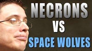 Necrons vs Space Wolves Warhammer 40k Battle Report - Beat Matt Batrep Ep 69