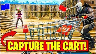 "NEW ""CAPTURE THE SHOPPING CART"" Gamemode in Fortnite Battle Royale"