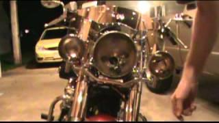 2008 Yamaha V Star 1100 Classic Passing Light Install Part 2.mpg