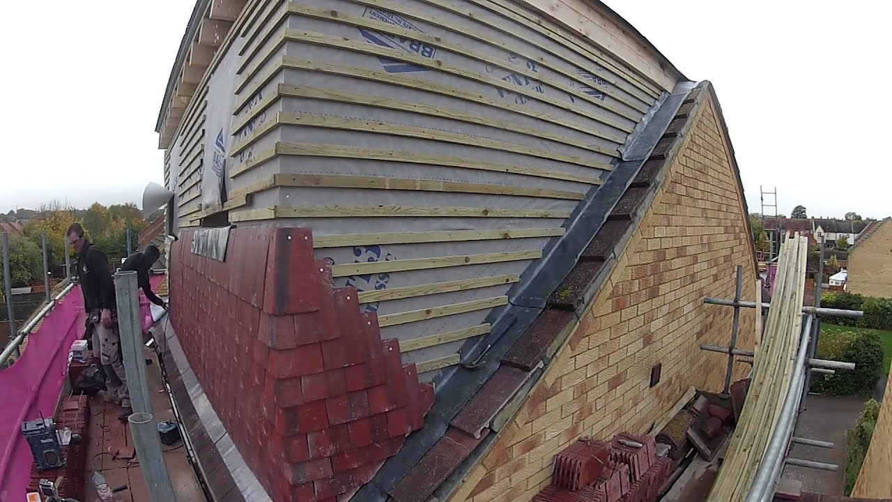 Loft Conversion Tiles On The Wall Of The Dormer Youtube