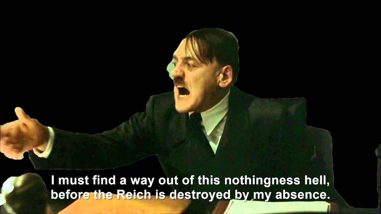 Hitler encounters nothingness