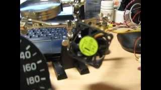Крутилка спидометра из компьютерного кулера