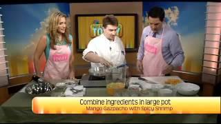 Mango Gazpacho With Spicy Shrimp Part 1