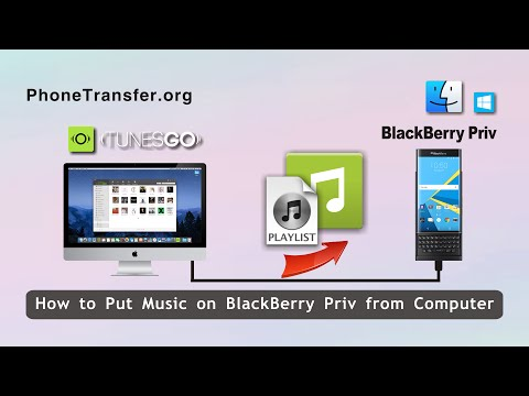 How to Put Music on BlackBerry Priv from Computer, Put Songs on BlackBerry Priv