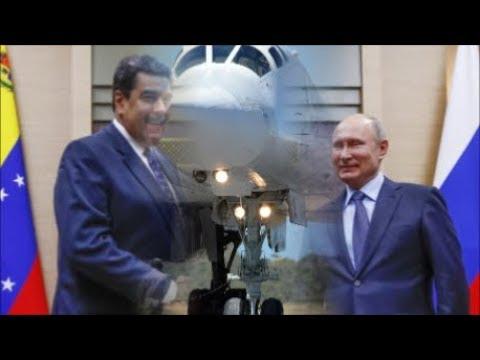 Russia Send Two Nuclear Strategic Bombers Tu-160 To Venezuela.