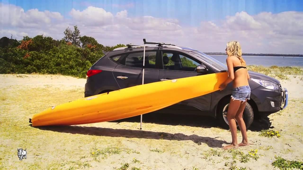 Rhino Rack RUSL Side Loader Loading a kayak onto your