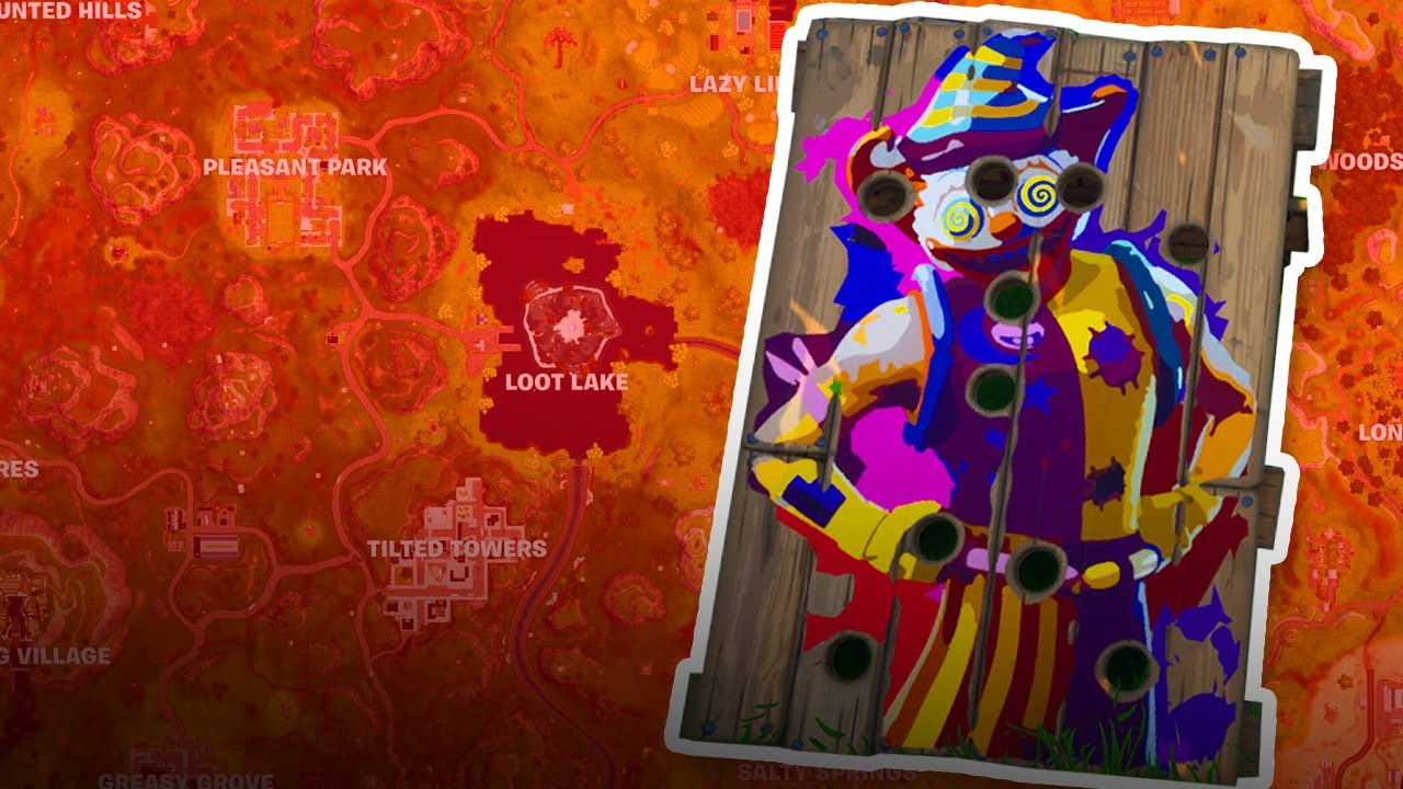 Fortnite Carnival Clown Board Locations Season 6 Week 9 Youtube