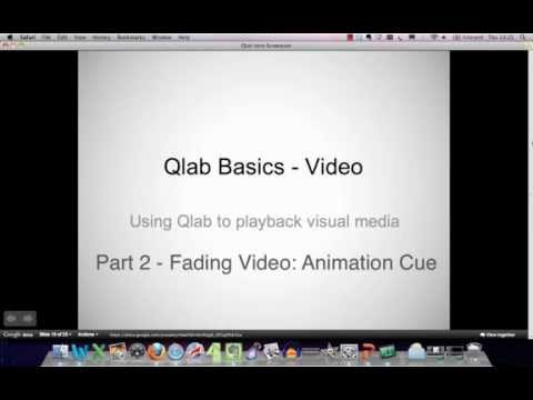 Qlab Training Tutorial - Guide To Audio Cues, Fade Cues