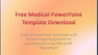 Gambar cover Free Medical PowerPoint Templates Download Background Presentation