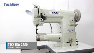Techsew 2750 Industrial Sewing Machine - Oiling Guide