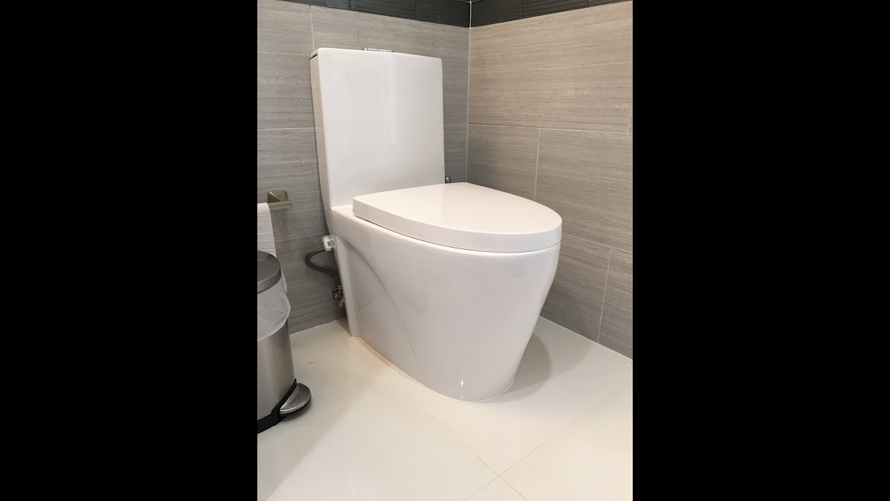modern contemporary one piece dual flush toilet  bt  youtube - modern contemporary one piece dual flush toilet  bt