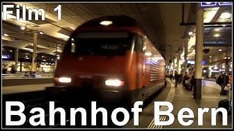 Züge am Bahnhof Bern, Railway Station Bern, Switzerland 2017 (Film1)