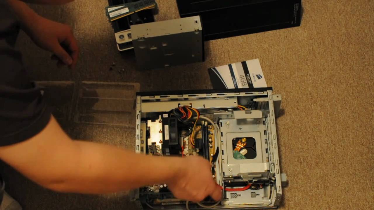 Hp Slimline 3000 Series Disassembly And Ram Replacement