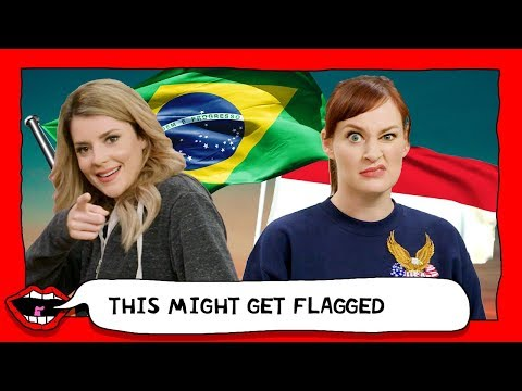 AMERICANS GUESS COUNTRY FLAGS with Grace Helbig & Mamrie Hart
