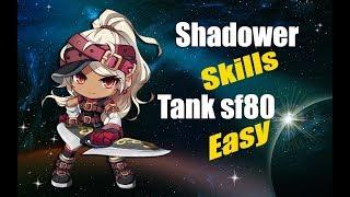 Maplestory m- Shadower Skills to tank Sf80 Easy