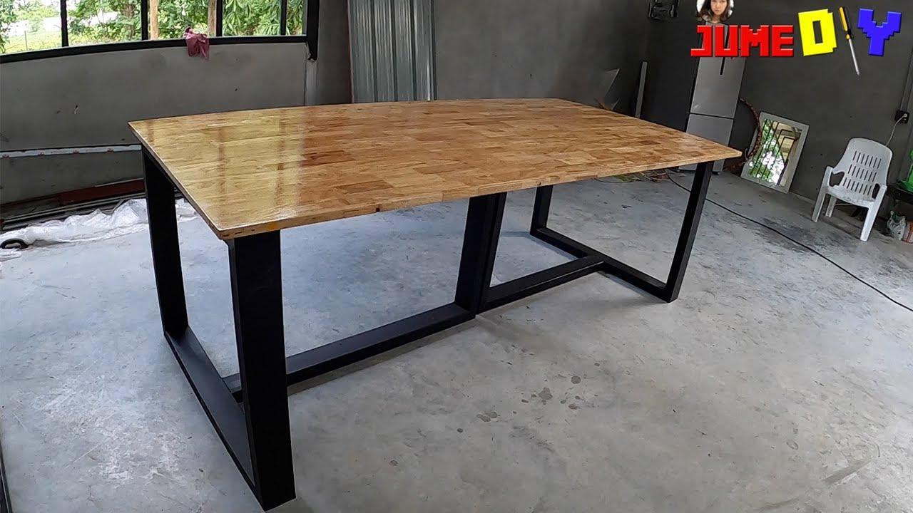 diy modern coffee table with metal table legs