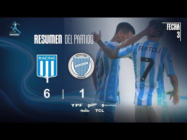 Copa Diego Maradona | Fases | Fecha 3 | resumen de Racing - Godoy Cruz