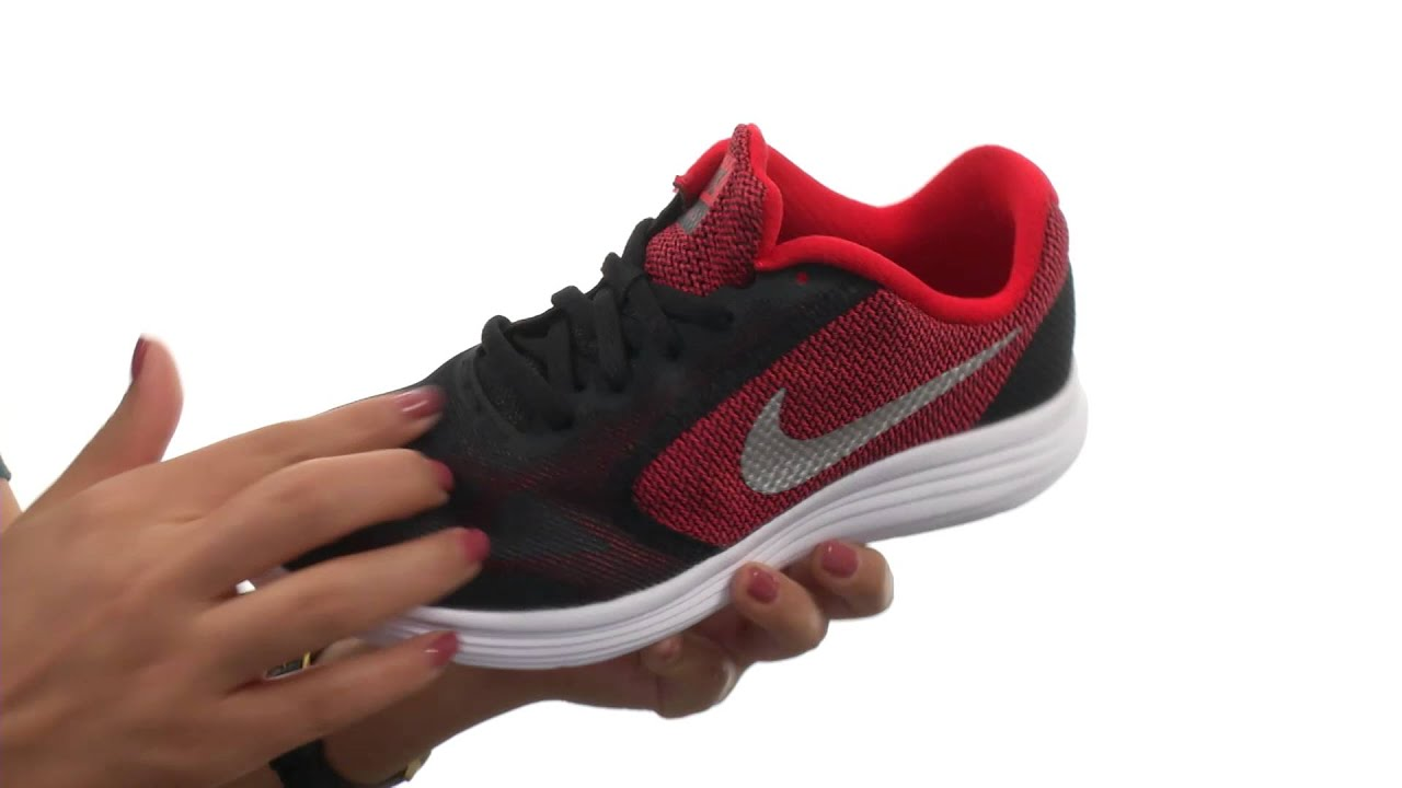 04035227b27a5 Nike Kids Revolution 3 (Big Kid) SKU 8621620 - YouTube