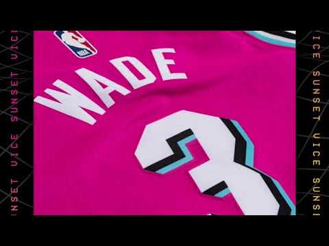 "info for f91ac 1d2d1 Dwayne Wade Miami Heat Earned Edition ""Sunset Vice"" Swingman Jersey Review"