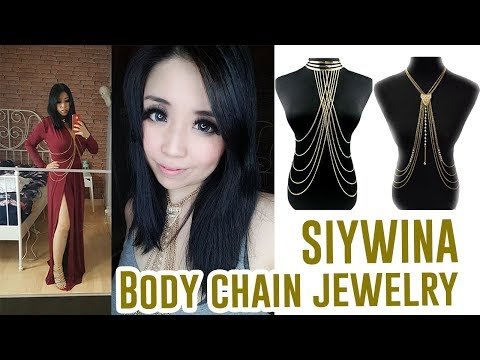 Affordable Body Chain Jewelry Style from SIYWINA - Amazon Jewelry Try On Review