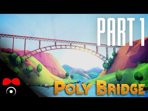 MENTÁLNĚ SLABŠÍ JEDINEC STAVÍ! | Poly Bridge #1