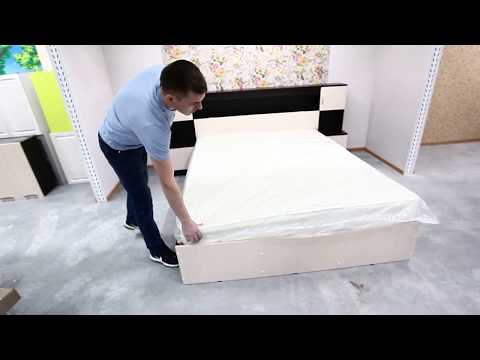 Кровать Бася - КР 552 с прикроватным блоком - СТЕНДМЕБЕЛЬ