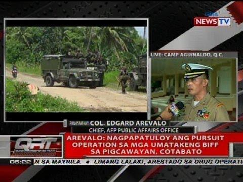 Walo patay sa sagupaan ng BIFF at militar sa Pigcawayan, Cotabato