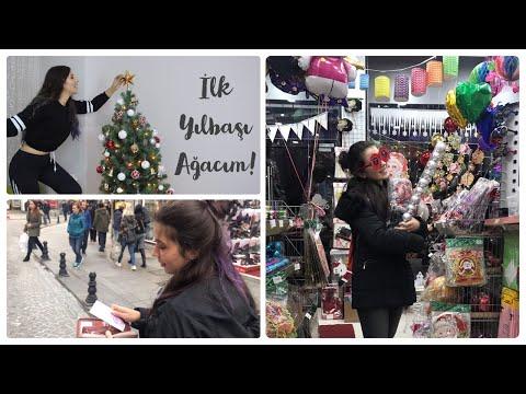 İLK YILBAŞI AĞACIM & ALIŞVERİŞ   NİMET ABLA'DAN MİLLİ PİYANGO BİLETİ ALDIM #vlogmlog7