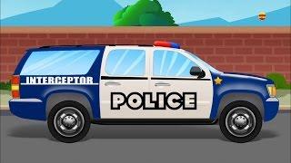 Polícia SUV | Lava-jato Vídeo para crianças | Cartoon Car Wash | Kids Car Wash | Police SUV