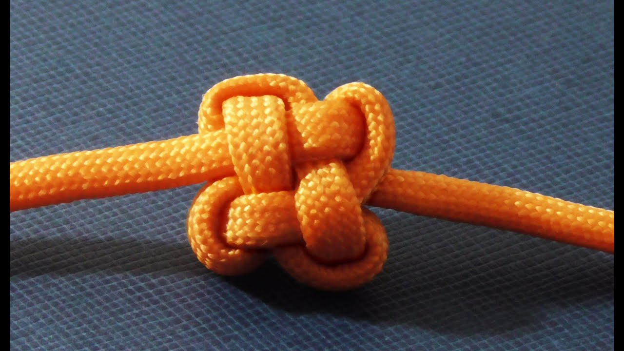Decorative Paracord Chinese Clover Knot - Good Luck Charm ...