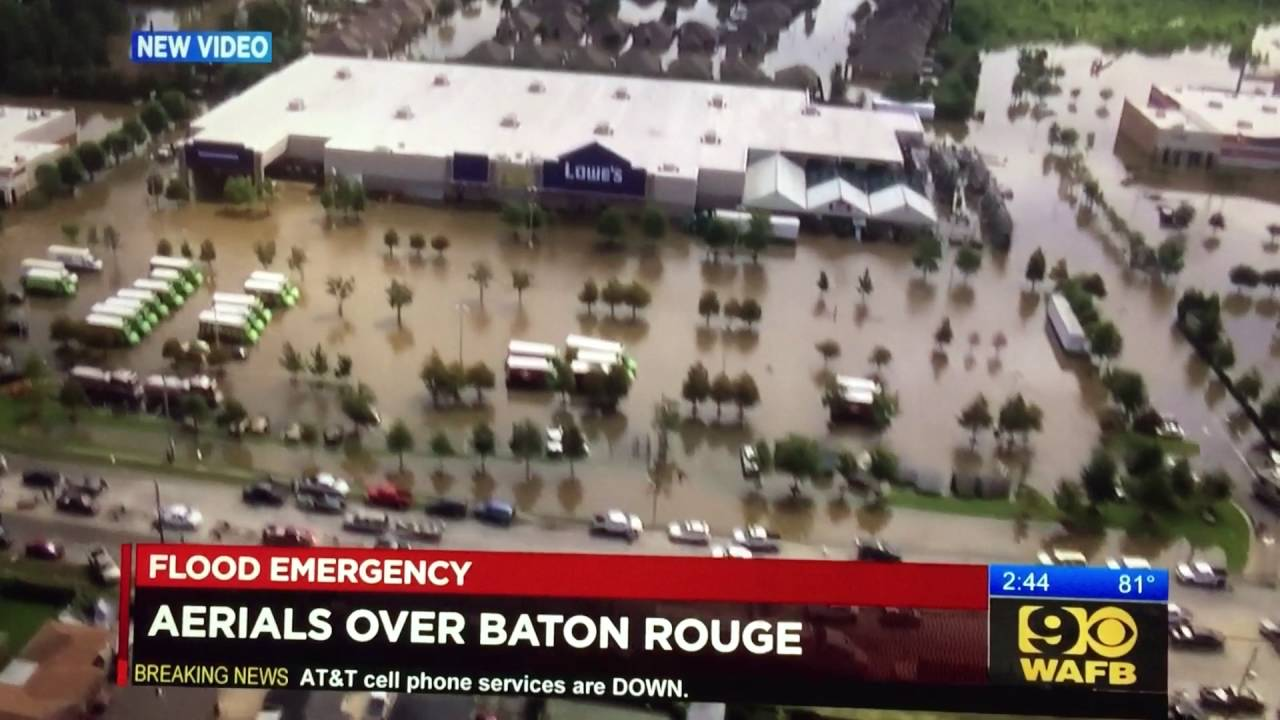 Baton Rouge 2016 Flood - Millerville Road Flooding